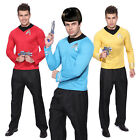 Mens Star Trek Uniform Captain Scotty Kirk Spock Fancy Dress Costume T-Shirt on eBay