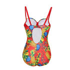 WOMEN fashion and comfortable Glaring Pineapple Large Cut Out Back Swimsuit piec
