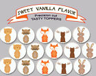 woodland animal bear fox moose baby birthday Party cupcake cake Toppers Cup Cake
