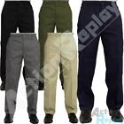 New Mens Elasticated Waist Casual Rugby Trousers