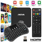 New Smart TV Box Android 7.1 4K Quad-Core HDMI HD Media Player + Mini Keyboard