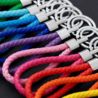 Kyпить Two Circle Leather Braided Rope Strap Weave Car Lanyard Keyring Keychain KeyFob на еВаy.соm