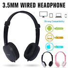 3.5mm Wired Headphone Over-ear Headset with Mic for Smart Phones Computers