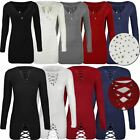 Womens Ladies Jumper Dress Bodycon Sweater Winter Diamante Stud Long Sleeve Size