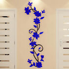 Fashion Home Decor Removable Acrylic 3D Rose Flower Wall Sticker Art Decal LnW
