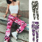 Fashion Women's Casual Long Pants Army Jogger Pants Military Camouflage Pants ed