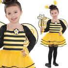 Kids Ballerina Bee Kit Fancy Dress Costume Bumble Insect Dancer 3-6 Years Amscan