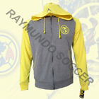 Club America Track Jacket Hoodies Rhinox Gray and Yellow Adult.