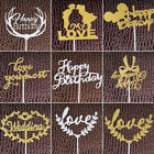 Внешний вид - LOVE HAPPY BIRTHDAY Cake Decor Pick Topper Spark Glitter Party Favour Gift Craft