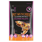 Pet Munchies 100% Natural Finest Wild Salmon Fillets Healthy Dog Chew Treats 90g