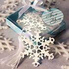 144 Snowflake Bookmark Holiday Party Favors / Christmas H...