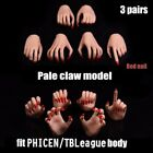 1 6 Scale Female Wheat Pale Skin Hands Claw Model For 12'' Phicen Figure Body