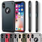 Hybrid Shockproof Slim Silicone TPU Rugged Armor Hard Case Cover For iPhone X