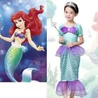 Kids Ariel Sequin Little Mermaid Set Girls Princess Tulle Dress Up Party Clothes
