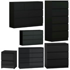 Hove Matt Black Modern Chest Of Drawers 3 5 6 Or 8. Tall Wide Chest Of Drawers
