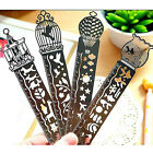 10cm Stainless Steel Ruler 3in1 Measure Bookmark Shaper Hollow Fairy Drawing #B9