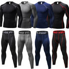 Mens Compression Running Tights Tops Athletic Shirts Under Base Layers Wicking
