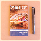 2018 Pocket SMALL DIARY blue tongue lizard design large print AUSTRALIAN MADE