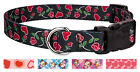 Country Brook Design® Deluxe Dog Collar - Hearts & Valentine's Collection