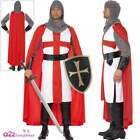Mens Crusader Knight Costume Adults St Georges Medieval Fancy Dress Shield Sword