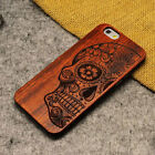 Natural Carved Wooden Pattern Rubber Bumper Case Cover For Apple iPhone 8 8 Plus