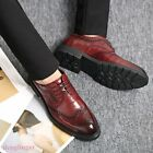 Men Oxfords Wing Tip Carving Brogue Pointy Toe British Fashion new Business Shoe