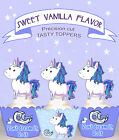 Inspirational FUNNY horse Unicorn pony Party Cupcake Toppers cup cake