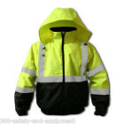 Hi-Vis Insulated Bomber Jacket Reflective S-5XL Class 3 Meets ANSI/ISEA 107-2010