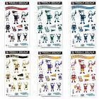 NFL Football Family Pack 12 Decals 6'' x 11'' Sheet ( Pick Your Team ) Reusable $9.99 USD on eBay