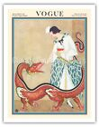 Fashion Magazine February 1923 - Chinese Dragon Vintage Magazine Cover Art Print