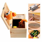 Wooden Useless Box Leave Me Alone Box Useless Machine Don't Touch Tiger Toy Gift