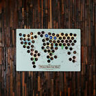 Personalised World Beer Cap Map Wooden Wall Decoration - Great Home or Bar Gift
