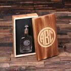 Engraved Scotch Whisky Hip Flask w/ Optional Wooden Box Customised Monogrammed