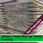 SHIP LAP TIMBER CLADDING 125mm x 16mm (ex) TANALISED 100mts Minimum Order