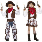 New Boys Girls Wild West Kids Cowboy Costume Week Day Fancy Dress Party Outfit