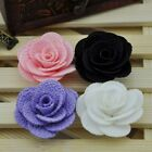 10/20/100 Pcs Ribbon Flowers Wedding Decor Sewing Appliques DIY Crafts A0119