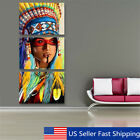 3Pcs Framed Unframd Indian Woman Abstract Canvas Art Painting Picture Home Decor