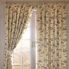 Botanical Printed  Blackout,Thermal, FULLY LINED,Pencil Pleat Curtains 3 colours