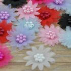 200/40/20pcs Ribbon Daisy W/pearl wedding/Appliques/Craft/Girl Lots mix A160