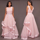 New Pink Formal Wedding Bridesmaid Long Evening Party Prom Gown Cocktail Dress