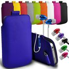 """For LG Optimus Zone 3 (4.5"""") Leather Pull Tab Pouch Case Cover with Earphone"""