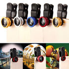 Camera Lens Universal 3in1 Clip On Kit Wide Angle Fish Eye Macro For Cell Phone
