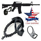 Lot Tactical Single One Point Sling Bungee For AR15 M4 M16 Airsoft Rifle+Adapter