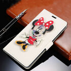 New 3D Cartoon Minnie Mickey Flip Cover Stand Wallet PU Leather Case For Samsung