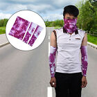 basketball face masks - Set of Cycling Basketball Sports Arm Sleeves UV Cover & Balaclava Full Face Mask