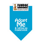 Adopt Me and Love Forever-M/L-Various-Fun Dog Bandana-100% SALE BENEFITS RESCUE