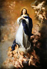 Immaculate Conception Religious Painting Picture Fine Art Re-Print A3 A4