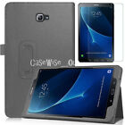"""For Fits SAMSUNG GALAXY TAB A6 10.1"""" Magnetic LEATHER Stand Case +Tempered Glass"""