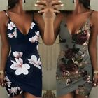 Summer Womens Sexy Mini Dress Floral Bodycon Sundress Cocktail Evening Dress