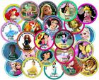 Personalised Party Bag Stickers. Princess Theme.